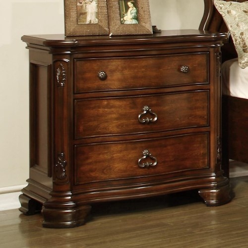 Lifestyle St. Charles Nightstand with 3 Full Extension Drawers