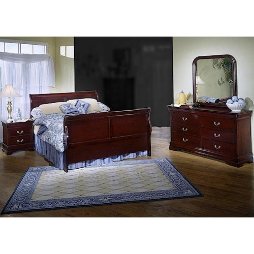 Lifestyle Louis Estates 4 Piece Queen Bedroom Set