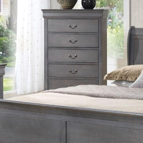 Lifestyle 4934A 5 Drawer Chest w/ Bail Handles