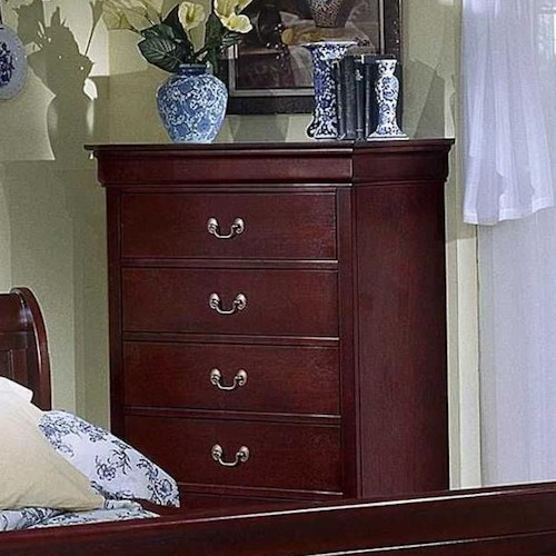 Lifestyle 5933 5 Drawer Chest w/ Bail Handles