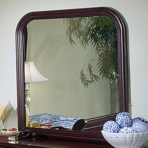 Lifestyle Louis Estates Square Dresser Mirror with Rounded Edges