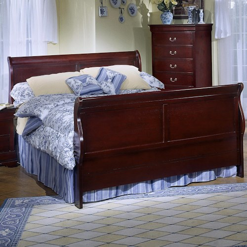 Lifestyle 5933 King Sleigh Panel Bed