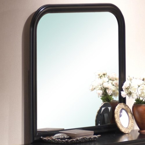 Lifestyle Louis Phillipe Square Dresser Mirror with Rounded Edges