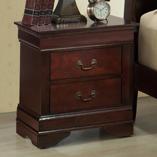 Lifestyle Louis Phillipe Night Stand w/ 2 Drawers