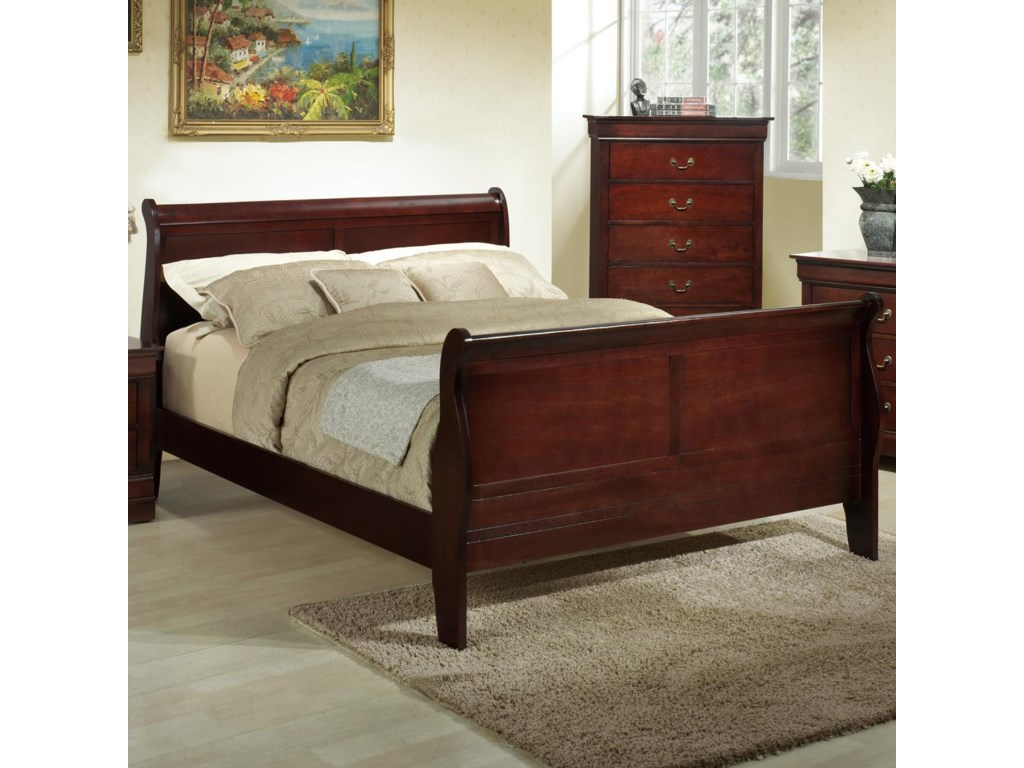 Louis Philippe Furniture Bedroom Lifestyle Louis Phillipe Queen Wood Sleigh Bed Royal Furniture
