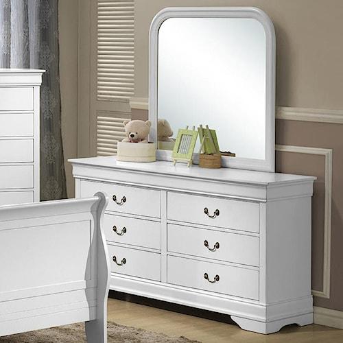 Lifestyle 5939 Drawer Dresser w/ Mirror