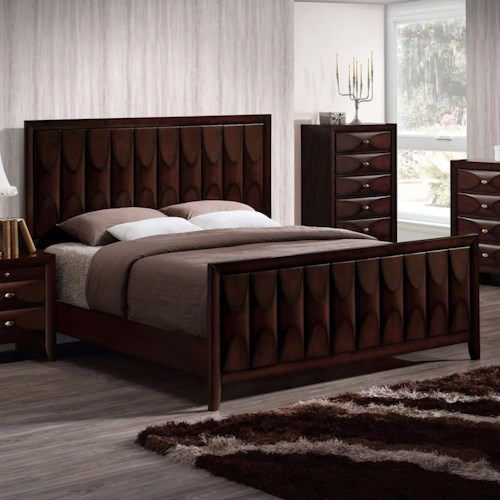 Lifestyle 6181B King Bed with Unique Panel Design