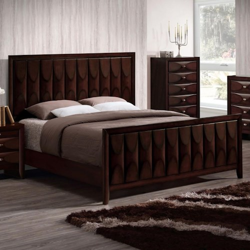 Lifestyle 6181B California King Bed with Unique Panel Design