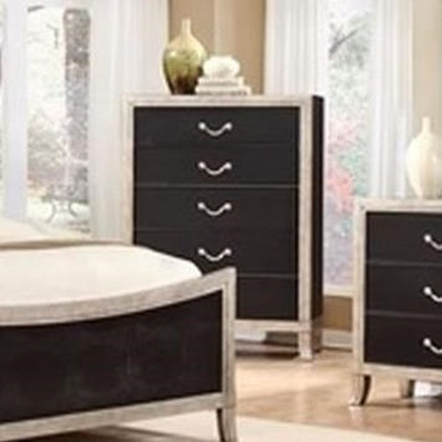 Lifestyle 6199A 5 Drawer Chest with Full Extension Glides