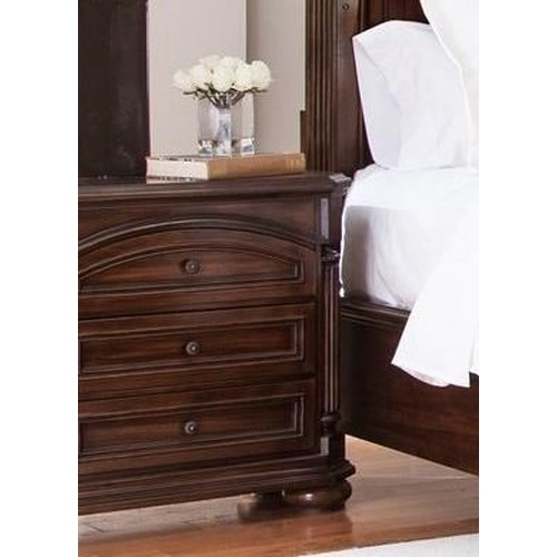 Lifestyle Empire 3 Drawer Nightstand with Full Extension Glides