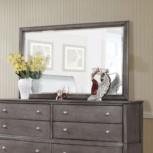 Lifestyle 7185 Beveled Mirror with Wood Frame