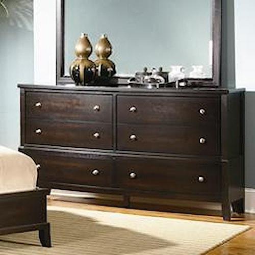 Lifestyle 7185A 6-Drawer Bedroom Dresser