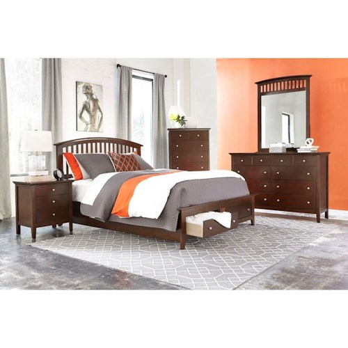 Lifestyle Bryce 5PC King Storage Bedroom Set