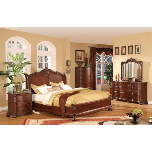 Lifestyle 9642 King Bedroom Group