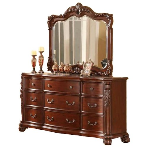 Lifestyle Sofia Cherry Mirror Ivan Smith Furniture Dresser Mirror