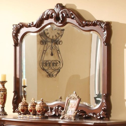 Lifestyle 9642 Traditional Mirror with Acanthus Leaf Detailing