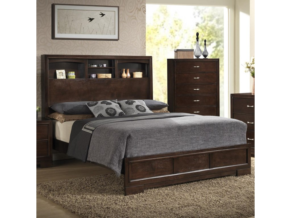 Lifestyle Bedroom Furniture Lifestyle Bookie Contemporary Queen Bookcase Bed With 4 Shelves