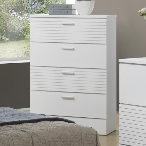 Lifestyle Sami Contemporary 4 Drawer Chest