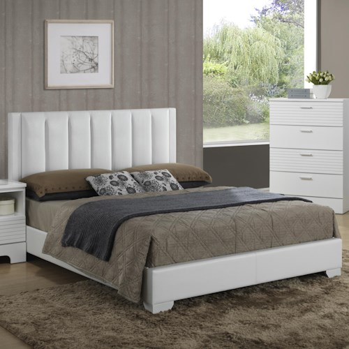 Lifestyle Sami Contemporary Upholstered Queen Panel Bed