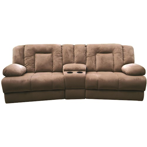 Lifestyle U3546 Casual Power Reclining Loveseat with Console