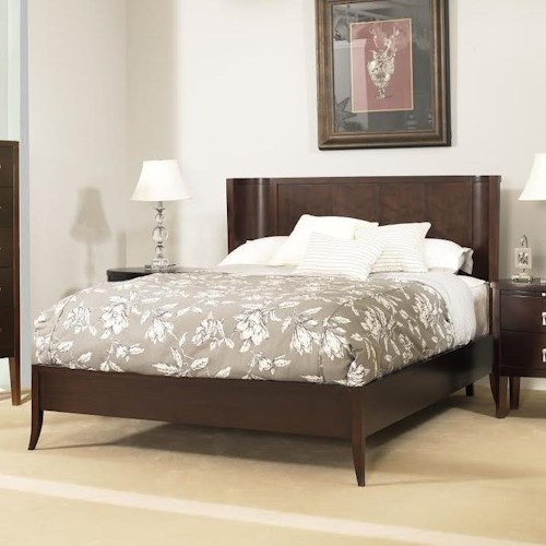 Ligna Furniture Port King Crescent Low Profile Bed