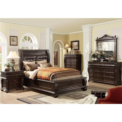Home Insights Hillsboro King 4 Piece Bedroom Group (chest not included)