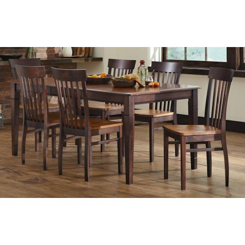 L.J. Gascho Furniture Anniversary II Solid Wood 5-Piece Dining Set