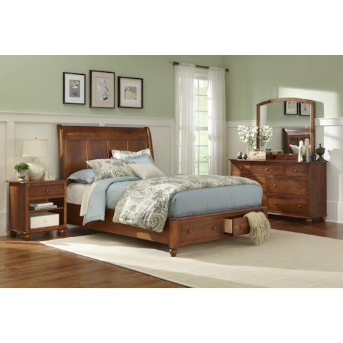 L.J. Gascho Furniture Covington Queen Storage Bed