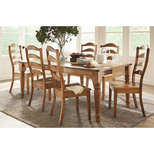 L.J. Gascho Furniture Colfax 5-Piece Solid Wood Dining Set