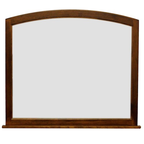 American Amish Covington Arched Mirror with Beveled Glass