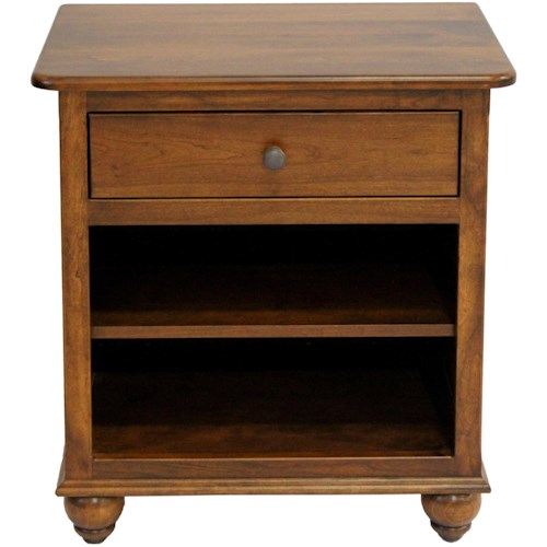 American Amish Covington Nightstand with Drawer and Shelf