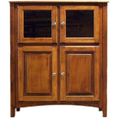 American Amish Solid Wood Dining Sets Anniversary Solid Wood China Cabinet with Lighting
