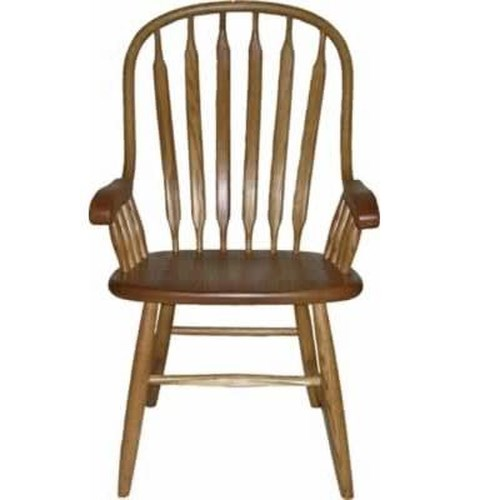 American Amish Solid Wood Dining Sets Solid Wood Bent Paddle Arm Chair