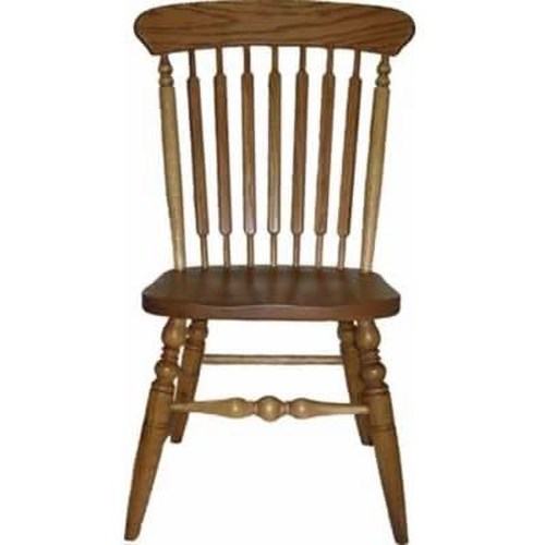 American Amish Solid Wood Dining Sets Solid Wood Farmstead Side Chair with Contoured Wooden Seat
