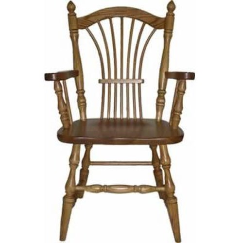 American Amish Solid Wood Dining Sets Wheatland Solid Wood Dining Arm Chair