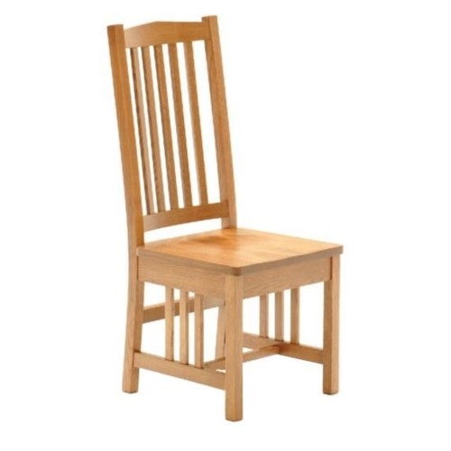 American Amish Grand Mission Mission Style Oak Dining Side Chair