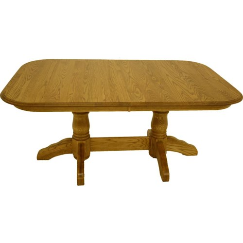 American Amish Heirloom Solid Oak Pedestal Dining Table