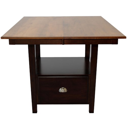 L.J. Gascho Furniture Larkin Gathering Table with Storage Drawer