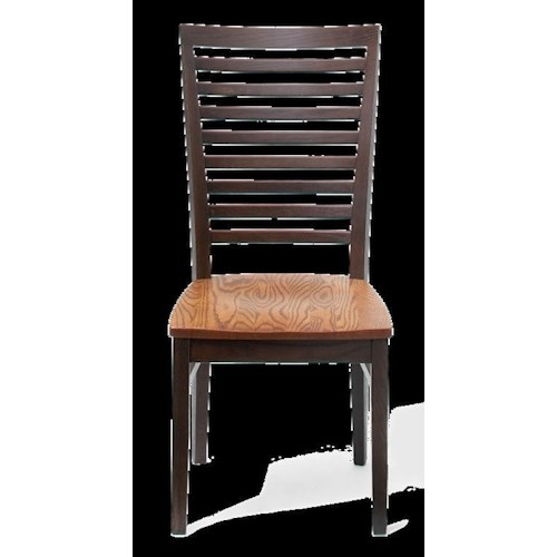 American Amish Split Rock Slated Back Side Chair