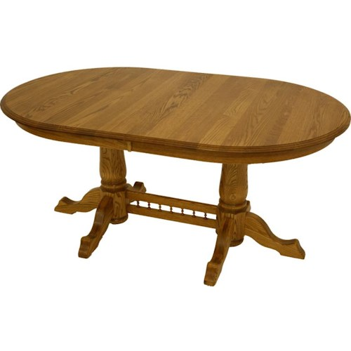 American Amish Wheatland Solid Oak Wood Pedestal Table