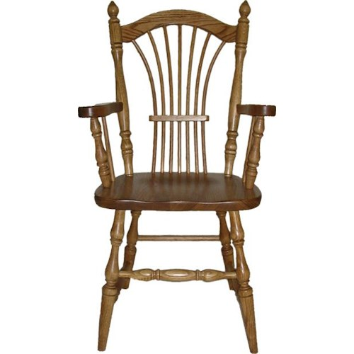 American Amish Wheatland Dining Arm Chair