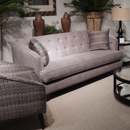 Lloyd's of Chatham 563 Transitional Sofa with Button-Tufted Back