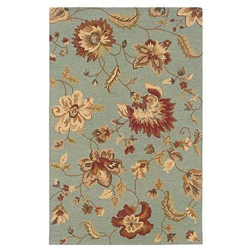 LR Resources Dazzle 8 x 10 Area Rug : Silk Blue