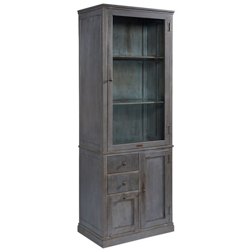 Magnolia Home by Joanna Gaines Accent Elements Metal Storage Cabinet with Glass Door