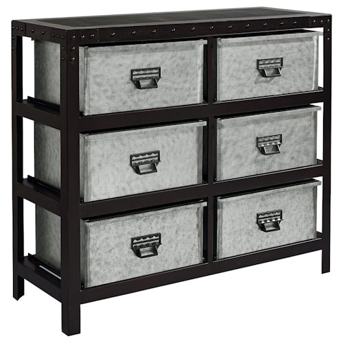 Magnolia Home by Joanna Gaines Accent Elements Industrial Metal Storage Chest