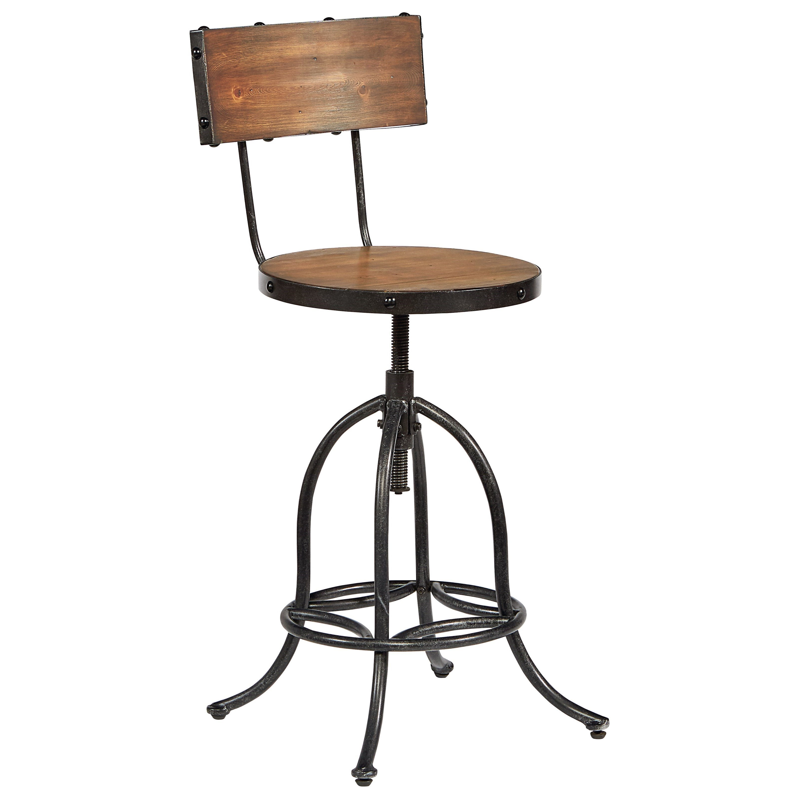Magnolia Home By Joanna Gaines Accent Elements Architect Stool With Bronze  Legs And Wooden Seat