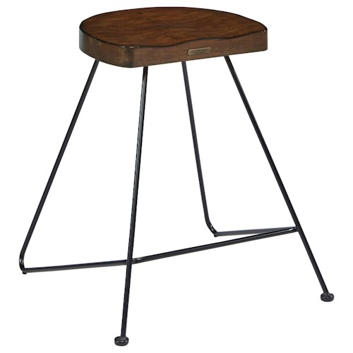 Magnolia Home by Joanna Gaines Accent Elements Stool with Metal Frame and Wood Seat