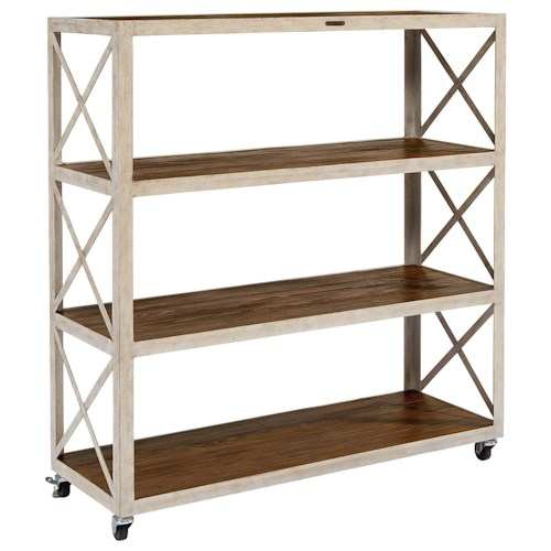 Magnolia Home by Joanna Gaines Accent Elements Large Industrial Bookcase with Casters