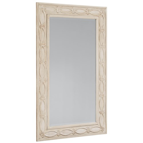 Magnolia Home by Joanna Gaines Accent Elements Short Antique White Zinc Floor Mirror