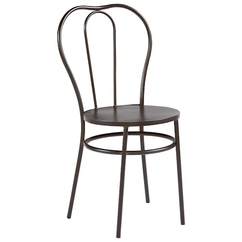 Magnolia Home by Joanna Gaines Boho Curvy Metal Bistro Chair